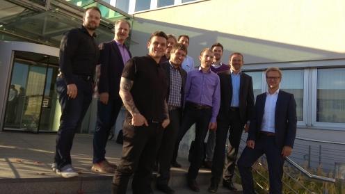 Gruppenfoto während des Treffens zur Abschlusspräsentation des Projekts in Chemnitz [Foto: FIR]
